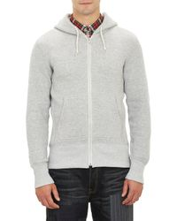 Junya Watanabe Zipfront Hoody with Elbow Patch - Lyst