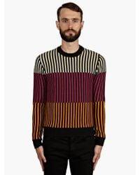 Jonathan Saunders Mens Contrast Stripe Merino Wool Jumper - Lyst