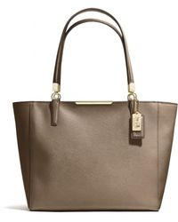 Coach Madison Eastwest Tote in Saffiano Leather - Lyst