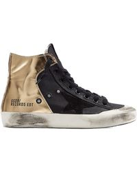 Golden Goose Deluxe Brand Francy High-Top Sneakers With Leather - Lyst