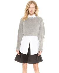 Viktor & Rolf - Cropped Sweater  Grey - Lyst