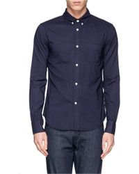 Band of Outsiders Box Pleat Cotton Shirt - Lyst