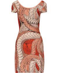 Issa Printed Stretch-jacquard Dress - Lyst