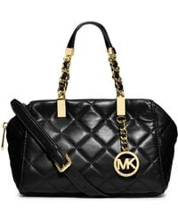 Michael by Michael Kors Susannah Quilted Leather Small Satchel - Lyst