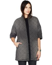 Current/Elliott The Quilted Car Coat - Gray