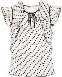 Erdem Neela Silk Top - Lyst