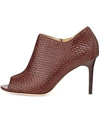 Cole Haan Annabel Woven Leather Bootie - Lyst