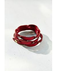 Urban Outfitters Wrapped  Tied Leather Bracelet - Lyst