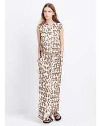 Vince Silk Ikat Print Cargo Maxi Dress - Lyst