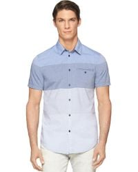 Calvin Klein Jeans End On End Color-Blocked Shirt - Lyst