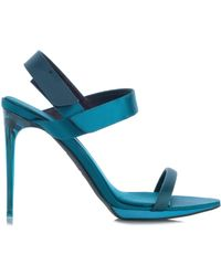 Burberry Prorsum Calcoat Colour-Block Satin Sandals - Lyst