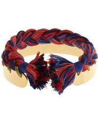 Aurelie Bidermann Copacabana Gold-Plated Bracelet red - Lyst