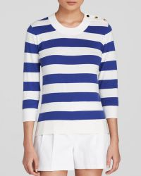 Kate Spade Striped Sweater white - Lyst