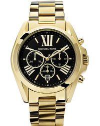 Michael Kors Bradshaw Goldplated Chronography Watch Gold - Lyst