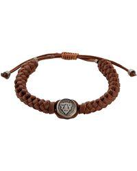 Gucci Leather Crest Bracelet - Lyst