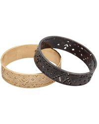 House Of Harlow 1960 Engraved And Punched Out Bangle Set - Lyst
