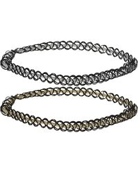 Topshop Elasticated Band Tattoo Chokers  Gold - Lyst