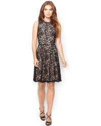 Lauren by Ralph Lauren Sleeveless Lace Dress - Lyst