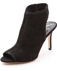 B Brian Atwood Elliana Mid Heel Sandals Black - Lyst
