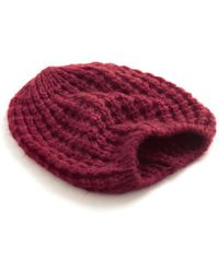Ana Accessories Inc Beignet Or Nay Hat in Cranberry - Lyst