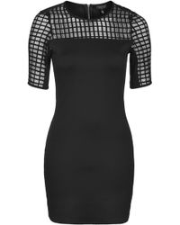 Topshop Caged Bodycon Tunic  Black - Lyst