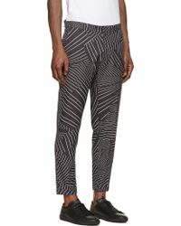 Christopher Kane Black and White Deconstructed Pinstripe Turn Up Trousers - Lyst