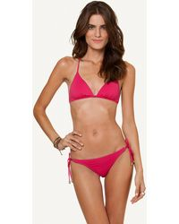 ViX Solid Fuchsia Crossed Back Top pink - Lyst