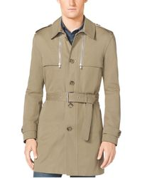 Michael Kors Cotton Trench Coat - Lyst