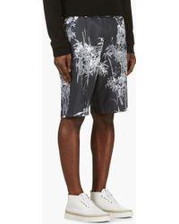 Diesel Grey Printed P_majusam Shorts - Lyst