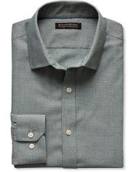 Banana Republic Tailored Slim Fit Non Iron Birdseye Shirt  - Lyst