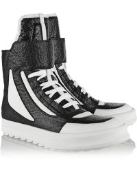 Camilla Skovgaard Textured-Leather High-Top Sneakers - Lyst