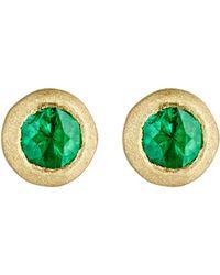 Tate - Women's Emerald Stud Earrings - Lyst