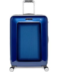 Ted Baker Men'S Medium Herringbone Rolling Suitcase - Blue (28 Inch) - Lyst