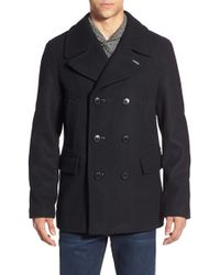 Pendleton - 'maritime' Double Breasted Wool Blend Peacoat - Lyst