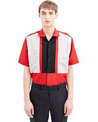 Lanvin Mens Short Sleeve Patch Shirt - Lyst
