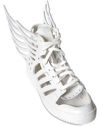 738682b992dc Jeremy Scott for adidas - Wings 2.0 Cut Out Leather Trainers - Lyst