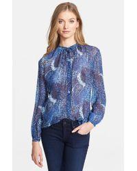 Rachel Zoe Women'S 'Liza' Print Silk Shirt - Lyst