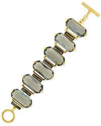 Vince Camuto - Gold-Tone Baguette Stone Line Bracelet - Lyst