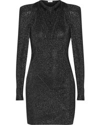 Vionnet Cutout Metallic Stretchjersey Mini Dress - Lyst