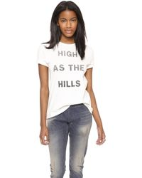 6397 High As The Hills Tee White - Lyst