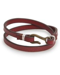 Mango | Double Leather Bracelet | Lyst