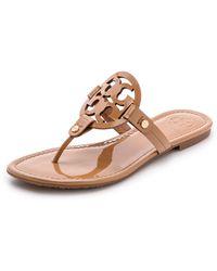Tory Burch Miller Thong Sandals - Sand - Lyst