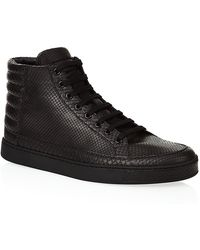 Gucci Python High Top Sneaker - Lyst
