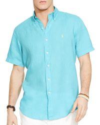 Ralph Lauren Short Sleeved Linen Shirt - Classic Fit - Lyst