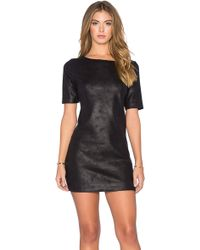 Level 99 - Audrie Suede Shift Dress - Lyst