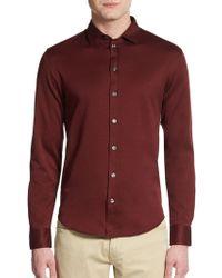 Armani Cotton Sportshirt - Lyst