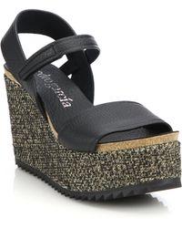 Pedro Garcia | Dorothy Textile Wedge Sandal | Lyst