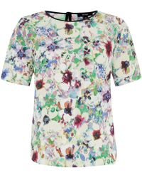 Therapy Hero Floral Print Top - Lyst