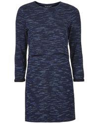 Topshop Petite Space Dye Overlay Dress - Lyst