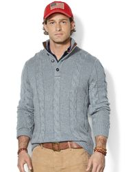 Polo Ralph Lauren Cable-Knit Tussah Silk Sweater - Lyst